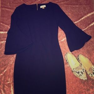 Calvin Klein trumpet sleeve dress